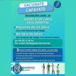 Ya están disponibles las vacunas para mayores de 25 años en el hospital de Cafayate