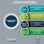 La municipalidad publicó el cronograma de recolección de residuos de sólidos urbanos.