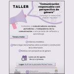 El Departamento de Violencia Contra las Mujeres realizará un taller de comunicación con perspectiva de género