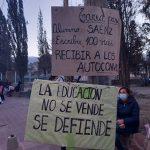 Tras el anuncio del Gobierno los Docentes Autoconvocados realizaron una nueva marcha este lunes