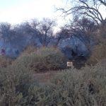 Continúan los trabajos de los bomberos voluntarios en Pueblo Nuevo