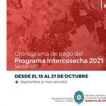 Mañana finaliza el cronograma de pago del programa Intercosecha para el sector de la Vid
