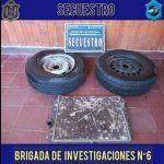 La brigada de investigaciones allanó una vivienda en el barro San Isidro por robo
